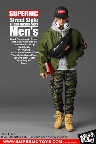 1/6 Scale Men's MA-1 Flight Jacket Streetwear Outfit Set by SuperMC Toys