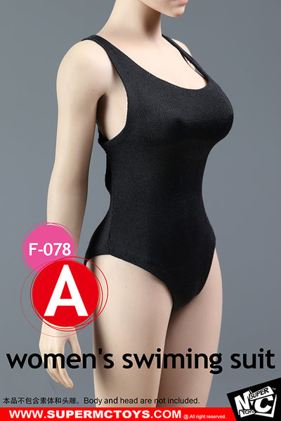 1/6 Scale Women's Cross Strap Swimsuit by SuperMC Toys