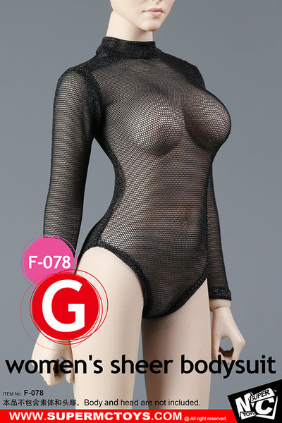 1/6 Scale Women's Sheer Bodysuit by SuperMC Toys
