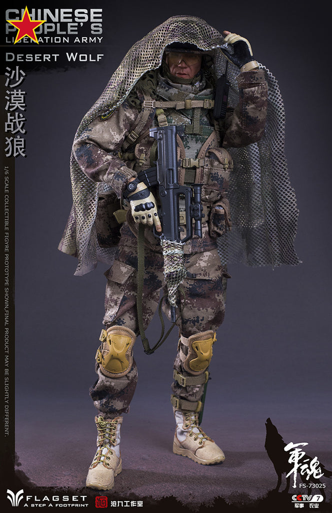 Desert Wolf Chinese People's Liberation Army PLA 1//6 Figure Flagset FS-73025 USA
