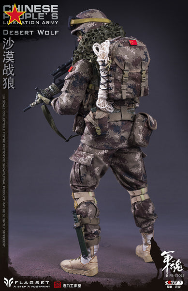 1/6 Scale Chinese People's Liberation Army Desert Wolf Figure by FLAGSET