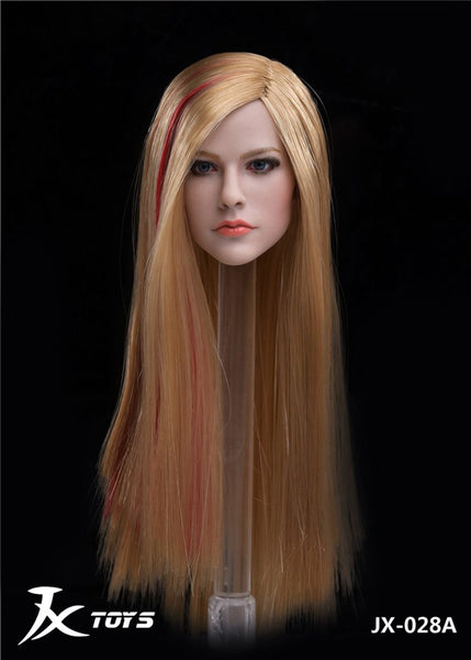 1/6 Scale Avril Head Sculpt (3 Hair Styles) by JXK