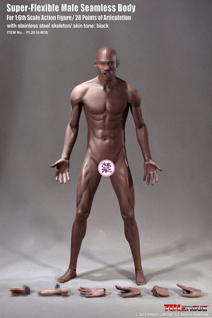 1/6 Scale M36 Super Flexible Male Seamless Body by TBLeague