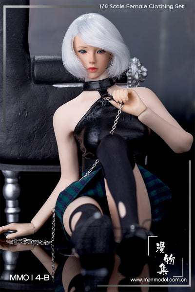 1/6 Scale Punk Girl Clothing Set (2 Colors) by ManModel