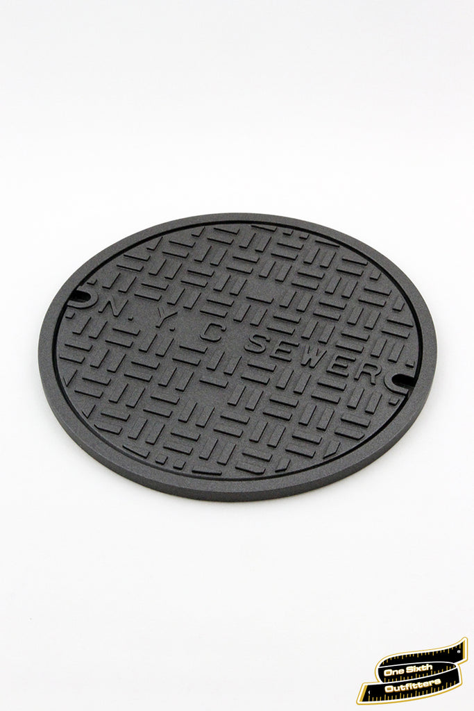 1/4 Scale NYC Manhole Cover Display Base by One Sixth Outfitters
