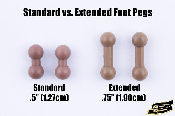 Extended Ball Foot Pegs for 1/6 Figures