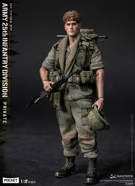 1/12 Scale Pocket Elite Series - Army 25th Infantry Division Private Figure by DamToys