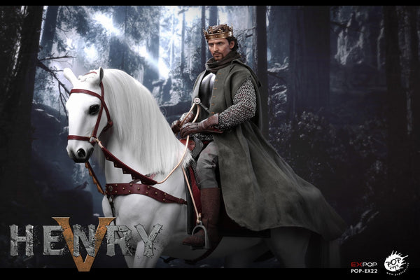 1/6 Scale King Henry V of England War Horse Figure by Pop Toys