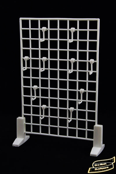 1/6 Scale Gun and Weapons Display Rack in White