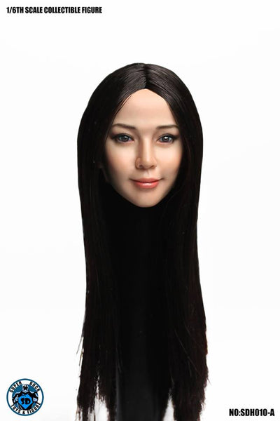 1/6 Scale Female Head Sculpt SDH010 (3 Hair Styles) by Super Duck Toys