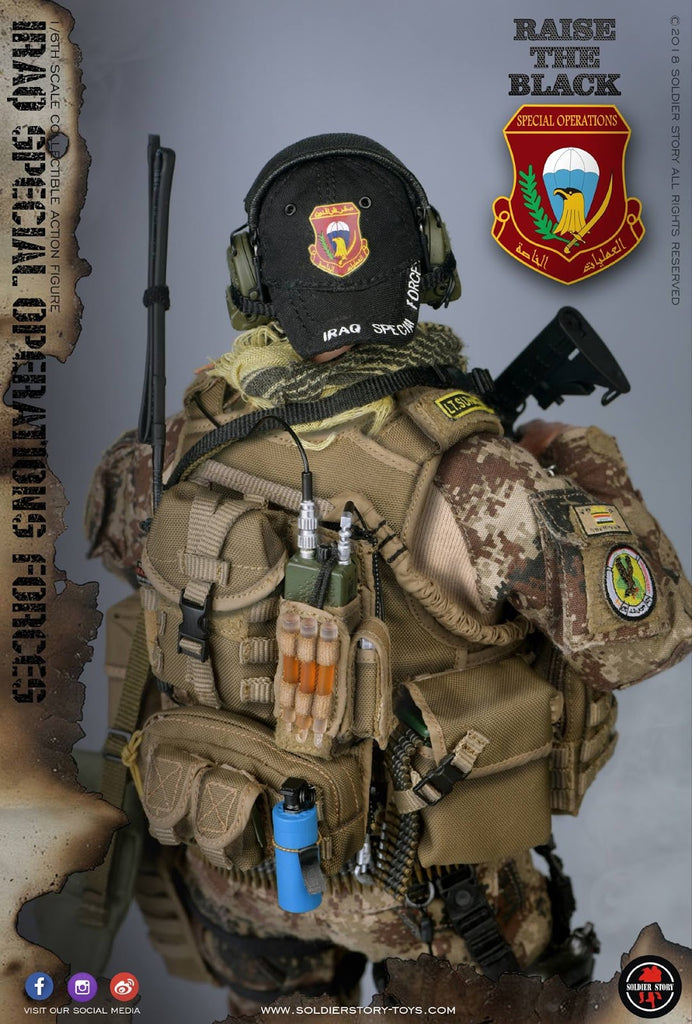 SoldierStory SS107 1//6 Iraq Special Operations Forces SAW GUNNER Merrell Boots