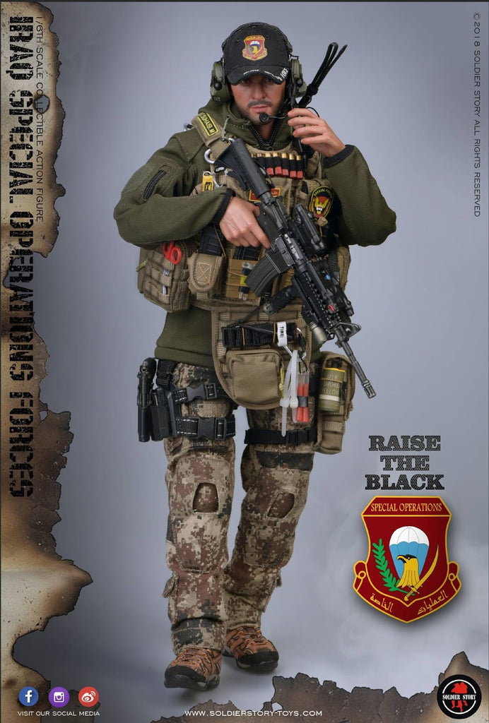 Soldier Story  1//6 Scael ISOF Iraq Special Operations Forces Head Sculpt