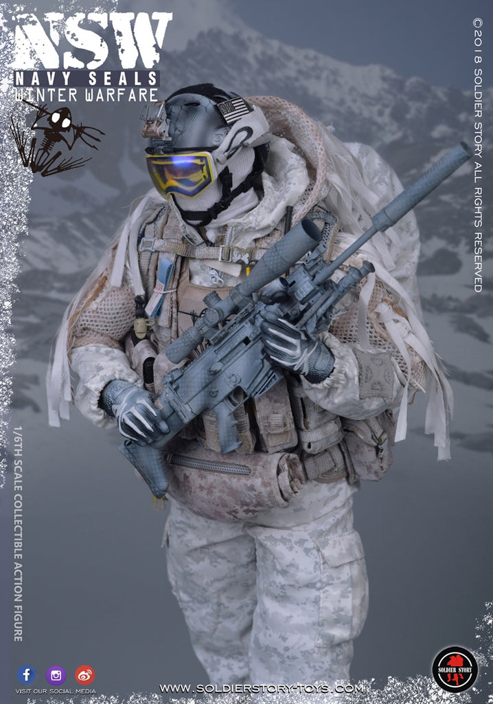 A21-24 1//6 scale SOLDIER STORY 109 NSW WINTER MARKSMAN-backpack