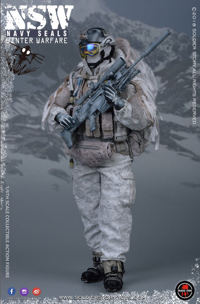 1/6 Scale NSW Navy SEAL Winter Warfare Marksman Figure (SS109) by Soldier Story