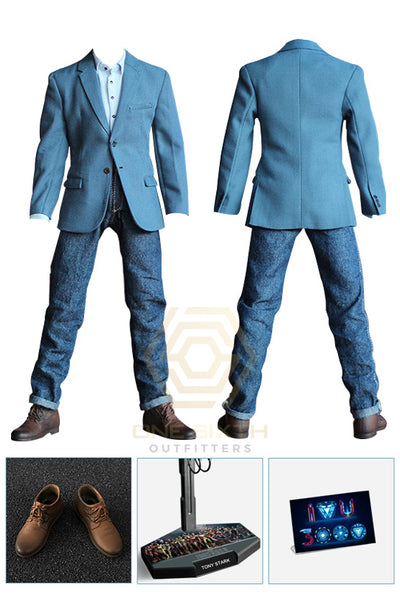 1/6 Scale Stark Casual Blue Outfit by MK100