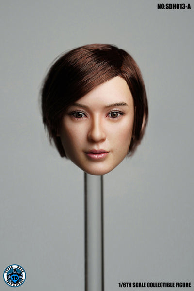 1/6 Scale Asian Female Head Sculpt 4.0 (3 Hairstyles) by Super Duck Toys
