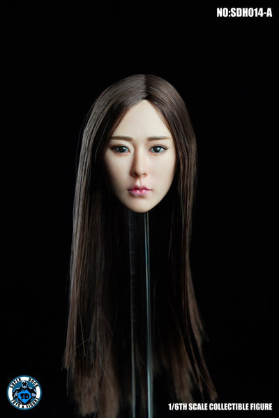1/6 Scale Asian Female Head Sculpt 5.0 (3 Hairstyles) by Super Duck Toys
