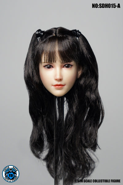 1/6 Scale Asian Female Head Sculpt 6.0 (4 Hairstyles) by Super Duck Toys