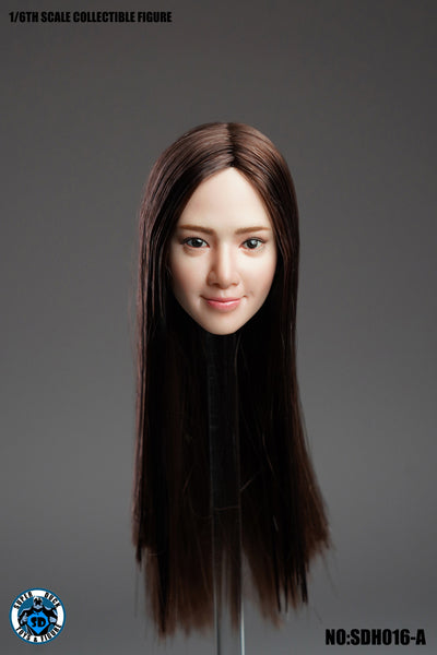 1/6 Scale Asian Female Head Sculpt 7.0 (4 Hairstyles) by Super Duck Toys