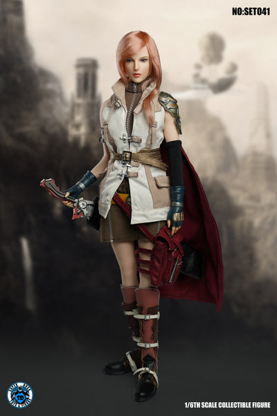 1/6 Scale Fantasy Warrior Lightning Head Sculpt & Outfit Set by Super Duck Toys