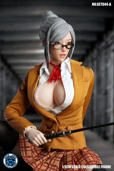 1/6 Scale Meiko Head Sculpt & Clothing Set (2 Colors) by Super Duck Toys