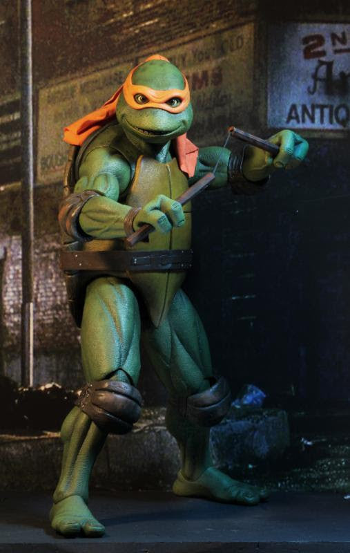 1/4 Scale Teenage Mutant Ninja Turtles (1990 Movie) Michelangelo Figure by NECA