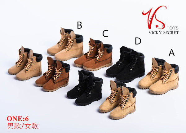 1/6 Scale Male Mountain Boots (4 Colors) by VS Toys