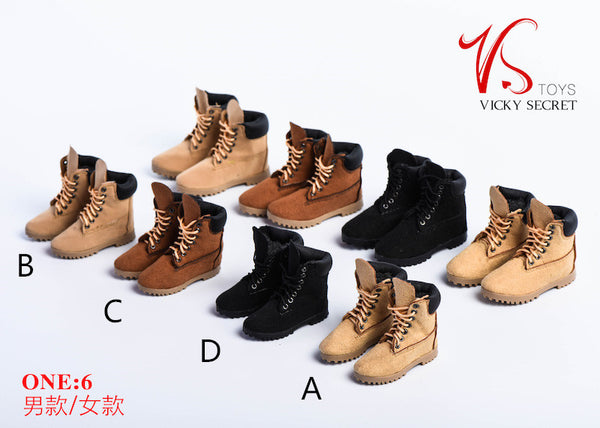 1/6 Scale Female Mountain Boots (4 Colors) by VS Toys