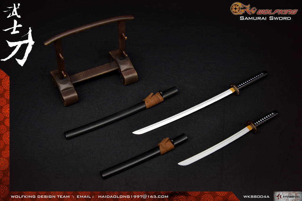 1/6 Scale Samurai Sword Katana (2 Colors) by Wolfking