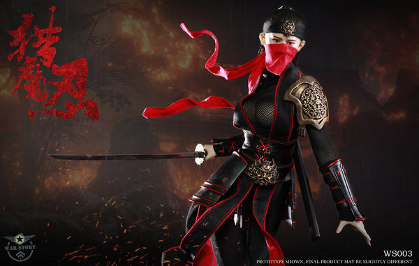 1/6 Scale Female Ninja Warrior Figure by War Story Toys