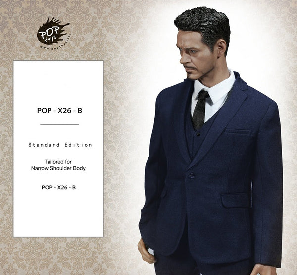 1/6 Scale Mens Suit (Navy) X26B by PopToys