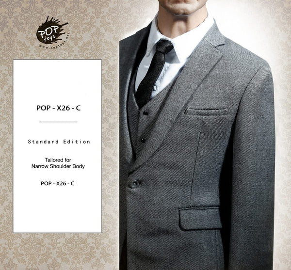 1/6 Scale Mens Suit (Light Gray) X26C by PopToys