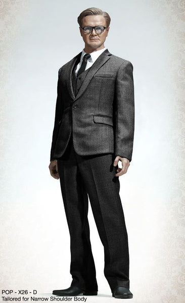 1/6 Scale Mens Suit (Dark Gray) X26D by PopToys