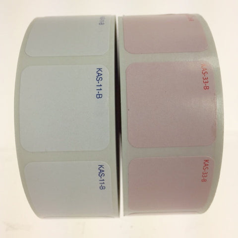 "1"" x 1"" Blank Label, E-Z Off or Super Stick (1000/roll)"