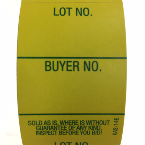 Style 14 Lot/Buyer Labels<br>Easy Off (1000/roll)