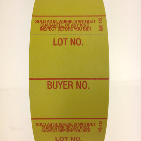 Style 14 Lot/Buyer Labels - Super Stick (1000/roll)
