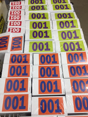 Color Print Impact Tag, wired (500/box) 3 sizes