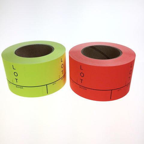 "3"" x 4"" Commercial Lotting Labels (500/roll) 2 colors"