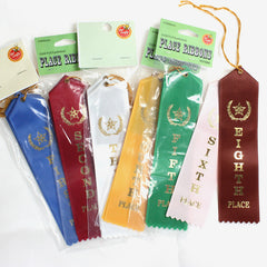 Place Ribbons 1st-10th Place (Pack of 25) Point top with string