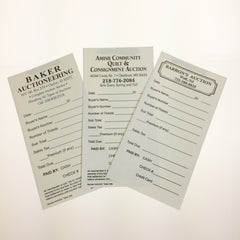 Custom Ticket Tallies, 2 part (500/pack)
