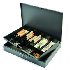 Steel Cash Box w/ 10 Compartment Tray