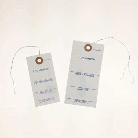 "Weatherproof ""Tuff"" Printed Tags - Wired (1000/box)"