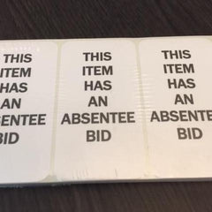This Item Has An Absentee Bid Stickers (250/pack)