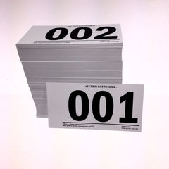Prenumbered Lotting/Item Card (500/pack)