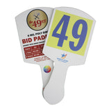 The '49er' Heavy Plastic Bid Paddle, Full Color (Min 50)