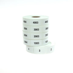 Stock Consecutive Numbered Roll Labels (1000/roll)