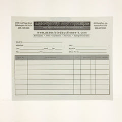 Custom Cashier Statement (500) LONG FORM