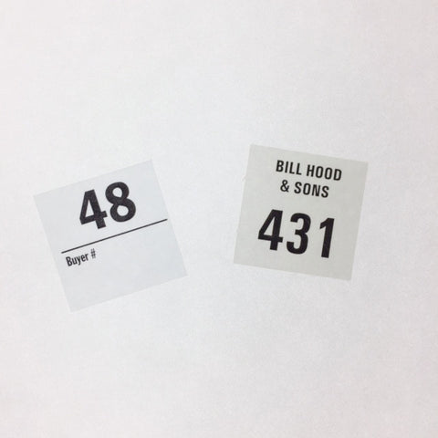 Custom Auction Labels