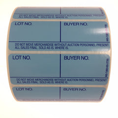 Style 7 Lotting Label - E-Z Off (1000/roll)