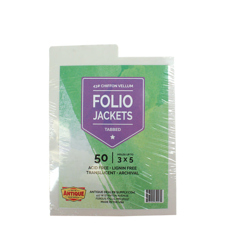 Folio Jackets (2 Sizes) Pack of 50